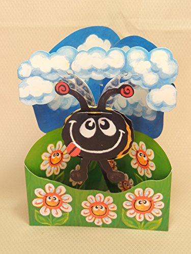 Bumble Bee Swing Card - Santoro 3D Pop-Up Greeting & Birthday Card for Kids