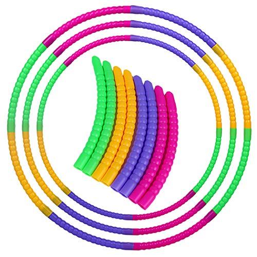 Bageek Aro Deportivo de 3 Piezas Aro de Entrenamiento de Plástico Desmontable Creativo Aro de Baile para Niños