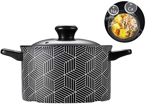YAOSHUYANG Soup casserole Ceramics Casserole Dish Multifunction Soup Pot High Temperature,Traditional Chinese Kitchenware Healthy(Size:3500ML) (Size : 2500ML)