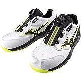 [ミズノ] ワークシューズ 安全靴 オールマイティ HW52L BOA 軽量 紐 JSAA・普通作業用(A種) メンズ ホワイト×ブラック 28.0 cm 3E