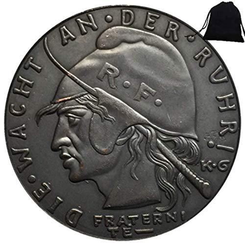 FKaiYin 1923 historisch geschnitzte deutsche Münze - Gedenkmünze Römische alte Münze - Reichsmark Europa Münze + KaiKBax Tasche - Lehrwerkzeug für Kinder Zukunftserfahrung