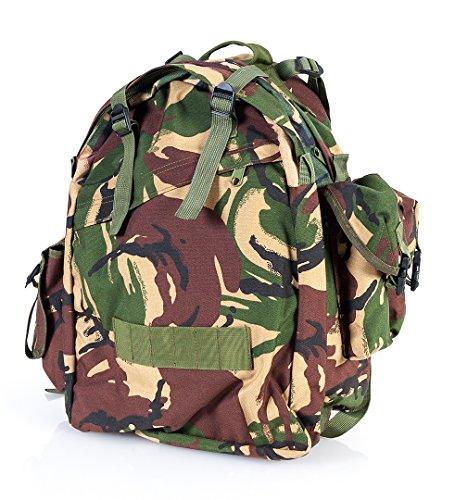 Matthias Couronne US Mission Pack Trekking Outdoor Tactical Sac à dos 55 l + porte-clés Army Shop, Camouflage britannique.