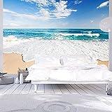 Vlies Fototapete 400×280 cm ! Top – Tapete – Wandbilder XXL – Wandbild – Bild – Fototapeten – Tapeten – Wandtapete – Wand – Strand Meer Natur c-B-0035-a-a - 2