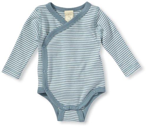 LANA natural wear - Grenouillère - Col ras du cou - Manches longues Mixte bébé - Bleu - Blau (ciel/natur ) - FR : 3 ans (Brand size : 98/104)