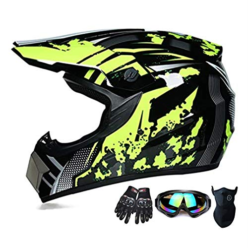 Suciedad casco de la motocicleta ATV SUV casco de la Casco +...