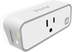 iHome ISP6X Wi-Fi Smart Plug, Use Your Voice To Control Connected Devices, Works with Alexa, Google Assistant & HomeKit Enabled Smart Speakers, 2 Pack