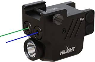 Image of HiLight P3BGL Blue Green Laser Sight Flashlight for Pistols with Micro USB Rechargeable Battery