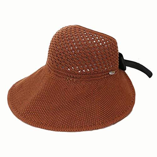 Yi-xir diseño Arco para Mujer vacío de Sombrero de Copa sin Resolver combinación (Color : Caramel Colour, Size : 56-58CM)