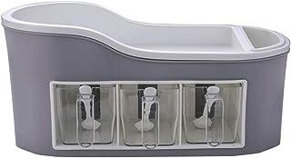SCDZS Multi-fonctions Spice rack Organisateur avec Assaisonnement Jar Boîte de rangement for Flatware Couverts