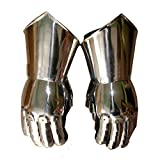 AnNafi Gauntlets Steel Gloves   Iron Metal Medieval Knight Costume  Warrior Gauntlet Fully Wearable