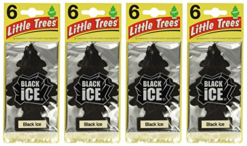 Black Ice (Pack Of 24) Little Trees Air Freshener [UK-Import]