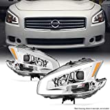 Nissan Maxima Accessory Lighting - Fits 2009 2010 2011 2012 2013 2014 Nissan Maxima LED DRL Light Tube Projector Front Headlamps Replacement
