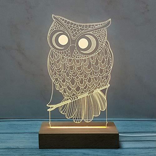Neue kreative Geburtstagsgeschenk-Tischlampe des Nachtlichtes des festen Holzes 3d