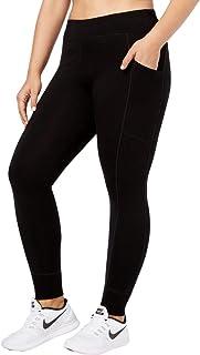 بنطلون نسائي من Calvin Klein عالي الأداء مزود بحزام مزدوج يمتص الرطوبة (عادي وإضافي)