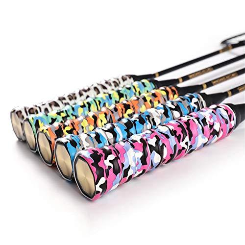 テニスラケットオーバーグリップ 滑り止め 5色迷彩 5.5Mセット バドミントンラケット グリップ 野球 自転車 釣り竿 ゴルフ