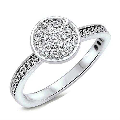 Solitär Ring Damen Diamantring Weißgold 18 Karat (750) 0,25ct Ring mit Diamanten - Verlobungsring