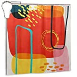 nxnx Ferra Shower Curtain, Waterproof Polyester Shower Curtain Mildew Resistant Anti Mould Bathroom Shower Curtain Hooks with 12pcs 180x180cm