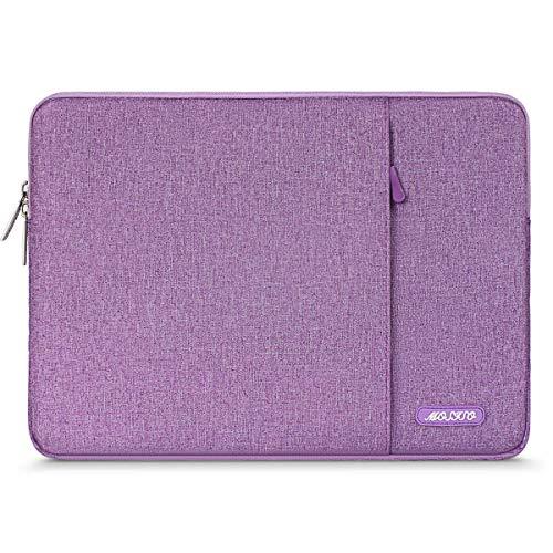 MOSISO Tablet Hülle Kompatibel mit 9,7-11 Zoll iPad Pro, iPad 7 10,2 2019, iPad Air 3 10,5, iPad Pro 10,5, Surface Go 2018, iPad 3/4/5/6 Wasserabweisend Polyester Vertikale Tasche, Licht Violett