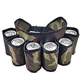 Cestas de botellas,Funda de cerveza Práctico portátil,Cinturón de cerveza plegable para escalada al aire libre (camuflaje)