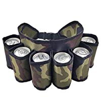 Hochwertiges Material --- Bier Gurtel aus strapazierfähigem Oxford-Material, schmutzabweisend, keine Zeit zum Reinigen verschwenden. 6-Pack Kapazität---Das Trägergürtel ist mit 6 Fächern ausgestattet, in denen 6 Flaschen Getränke gleichzeitig aufbewa...