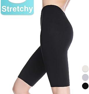 Slip Shorts for Women Short Leggings Mid Thigh Legging...