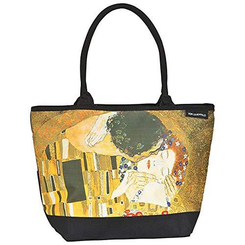 VON LILIENFELD Bolsa Compra Shopper Grande de Playa Bandolera Mujer Arte Gustav Klimt: El beso