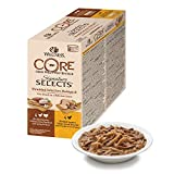 Wellness CORE Signature - Juego de 8 latas de Comida para Gatos mojadas, sin Granos, 79 g