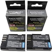 SIXOCTAVE D-LI90 D-LI90P 互換 バッテリー 2個セット ペンタックス K-7 D-BG4 K-5 645D K-01 K-5 II K-5 Iis K-3 K-3 ⅡK-3 Mark III D-BG5 等対応 純正充電器で充電可能 残量表示可能 純正品と同じよう使用可能