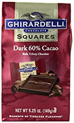 Ghirardelli Chocolate Squares, Dark Chocolate, 5.25 oz., (Pack of 6)