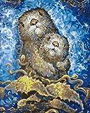 Pintar por Numeros Adultos Animal Pintura Guiada por Numeros,Niños DIY Pintura por Números con Pinceles y Pinturas-hogar decoración de casa 40 x 50 cm(sin marco)