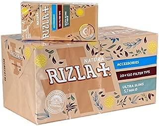 Rizla Natura Ultra Slim 5.7 Cigarette Filter Tips - 20 Packet