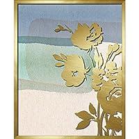 リンデンアベニューAVE10412ブルー抽象的な水彩画シャドウボックスウォールアート