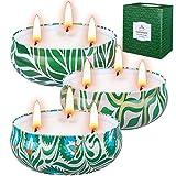 2 Groß Duftkerze Zitrusfrüchten Lemon, Geschenkset Frauen Schöne Kerzen Duftkerzen Set für Aromatherapie Geschenkset für Frauen