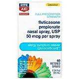 Rite Aid Fluticasone Propionate Allergy Nasal Spray, 50 mcg - 60 Metered Sprays   Allergy Relief   Nasal Decongestant