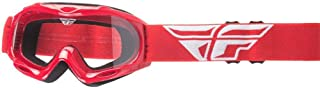 Fly Racing Men's Focus Youth Goggle (Red w/Clear Lens, One Size)