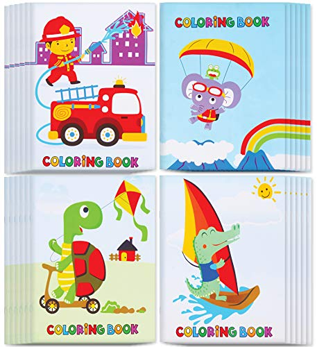 Incredible Value Coloring Books for Kids - Epic Bulk Party Pack of 24 Awesome Coloring Books 5'x7' With Animated Cartoons