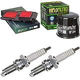 pamoto Filtro dell'aria, filtro dell'olio, candela di accensione XL 700 V Transalp 2008-2011 Kit di manutenzione