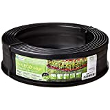 Suncast 20' Professional Landscape Edging Roll - Plastic Lawn Edging Border for Garden, Flower Beds, and Landscape - Conforms to Any Shape - 20' Coiled Roll - Black