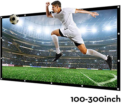 Projector Screen Outdoor Indoor 100 Inch 16:9 Diagonal NIERBO Projection Screen Portable Movie Screen Support Front Rear Projection