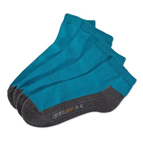 Camano - Socken 2er Pack - Sportsocken - Türkis XXL Socken, Größe:43-46