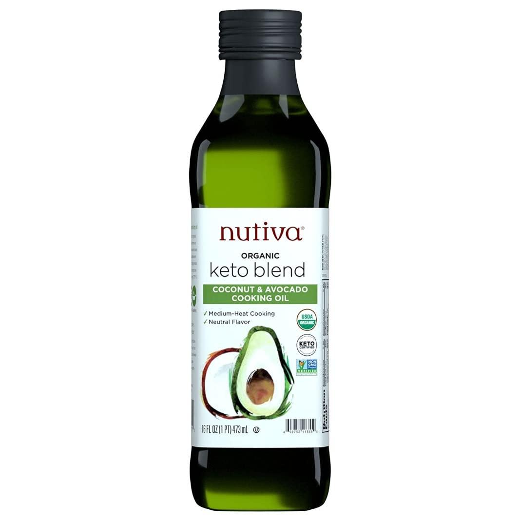 Nutiva Organic Keto Blend Coconut  Avocado Oil 16oz