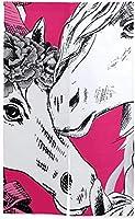 暖簾 のれん 白い馬の花輪のシームレスなパターンベクトル 高断熱 洗面所 麻 和風 暖簾 居酒屋 シンプル 麻 85X120CM