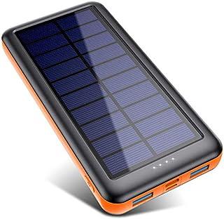 Power Bank Solare 26800mAh, Caricabatterie Solare Portatile【3 Ingresso e 2 Uscite】Pxwaxpy Grande Capacità Caricatore Solar...