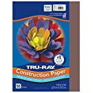 "Tru-Ray Heavyweight Construction Paper, Dark Brown, 9"" x 12"", 50 Sheets"