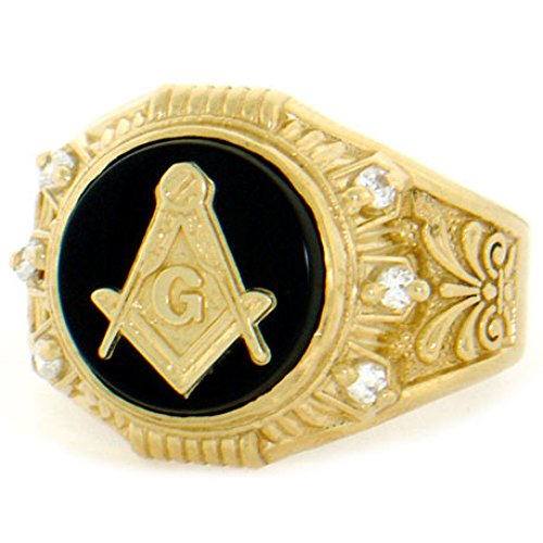 Black and Gold Masonic Ring