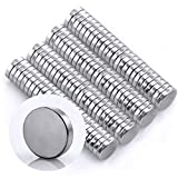 Omnicube - N35 Runde Neodym Magnete Extra Stark (100 Stück) | 5x1mm Starke Magnete | Geeignet für Magnettafeln, Kühlschränke, Whiteboards und vieles mehr