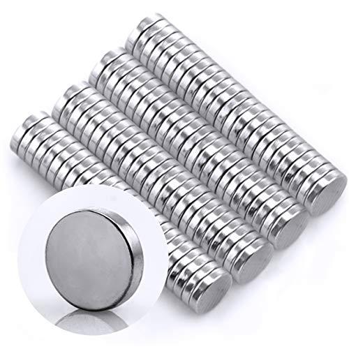 Omnicube - N35 Runde Neodym Magnete Extra Stark (100 Stück)   5x1mm Starke Magnete   Geeignet für Magnettafeln, Kühlschränke, Whiteboards und vieles mehr