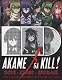 Akame ga Kill Dots Lines Spirals: New kind of Anime Coloring Book for Teens and Adults to Relieve Stress and Relax