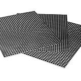 Coolinato® 3 Hochwertige Silikon Backmatten (38x30cm) - rutschfeste Dauerbackfolie für Backofen | Umweltfreundlich und Spülmaschinenfest | auch als Backunterlage und Teigunterlage verwendbar