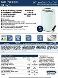 De'Longhi PAC N90 Eco Silent tragbare Klimaanlage, 2500, Weiss - 6